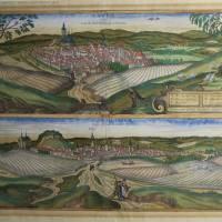 Pohled na města Louny a Slaný