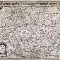 Mapa Čech, J. Speed, 1626