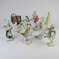 Kolekce porcelánových tanečnic ve stylu art deco